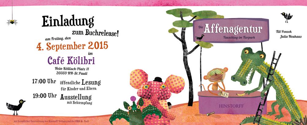 julia neuhaus - kinderbuch illustration, bücher für erwachsene, Einladung